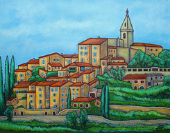 Colours of Crillon-le-Brave, Provence, 40 x 50