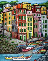 Colours of Riomaggiore, Cinque Terre, 61 x 76 cm