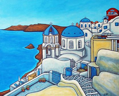 Colours of Santorini, 40 x 50 cm