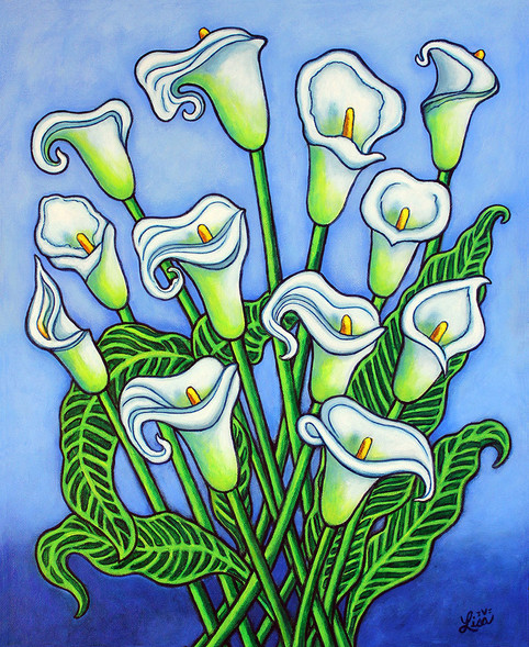Calla Lily Dreaming, 40 x 50 cm