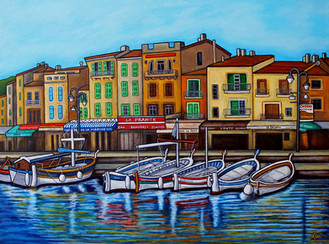 Colours of Cassis, Provence 60 x 80 cm, Private Collection
