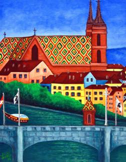 Remembering Basel, 30 x 40 cm, SOLD