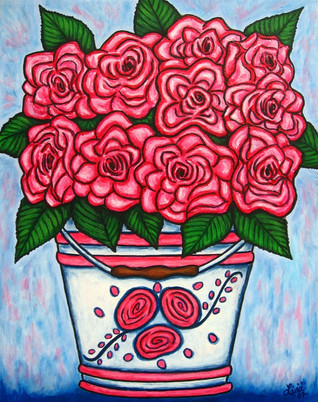 La Vie en Rose, 40 x 50 cm, SOLD