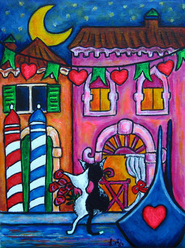 Amore in Venice, 30 x 40 cm, SOLD