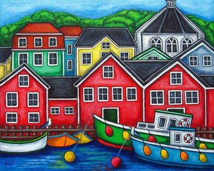 Colours of Lunenburg, 40 x 50 cm, SOLD