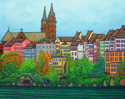 Colours of Basel, 80 x 100 cm