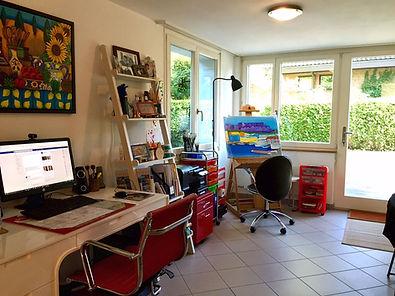 Lisa Lorenz Painting Studio