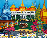 Exotic Bangkok, 30 x 40 cm, SOLD