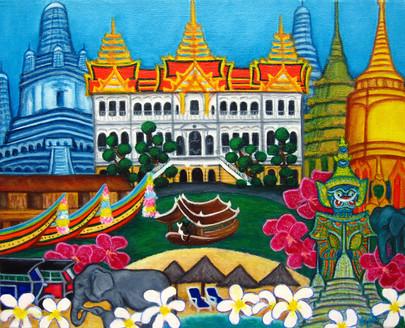 Exotic Bangkok, 30 x 40 cm, SOLD