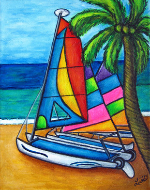Colourful Hobby, 22 x 25 cm, SOLD
