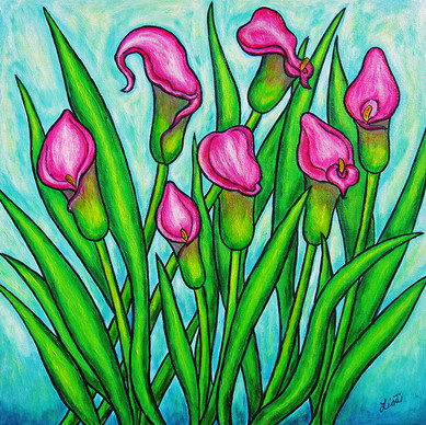 Pink Ladies, 40 x 40 cm, SOLD
