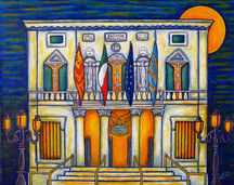 A Night at the Fenice, Venice, SOLD 40 x 50 cm