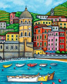 Colours of Vernazza, Cinque Terre, 61 x 76 cm