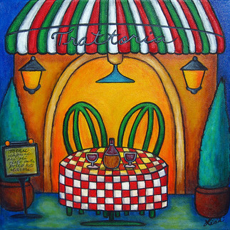 Table for Two Trattoria, 30 x 30 cm, SOLD