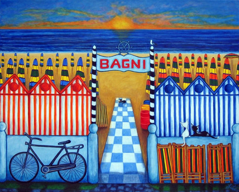 Italian Summer's End, 80 x 100 cm, Private Collection