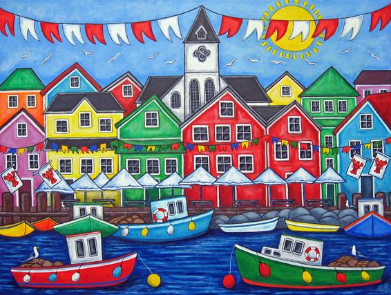 Nordic Hometown Festival, 60 x 80 cm, SOLD