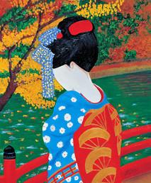Autumn Geisha, 50x70cm, SOLD