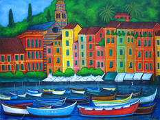Colours of Portofino, 60 x 80 cm, SOLD
