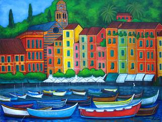 Colours of Portofino, 60 x 80 cm, SOLD
