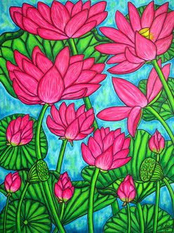 Lotus Bliss, 60 x 80 cm, SOLD