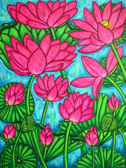Lotus Bliss, 60 x 80 cm, SOLD