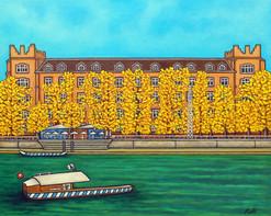Basel Kaserne-Herbst, 40 x 50cm, SOLD