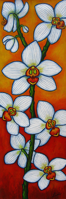 Orchid Oasis, 30 x 90 cm, SOLD
