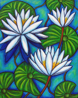 Nymphaea Blue, 40 x 50 cm, SOLD