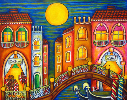 Venice Soiree, 40 x 50 cm, SOLD