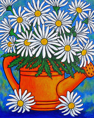 Crazy for Daisies, 40 x 50 cm, SOLD