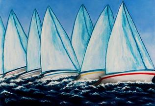 Regatta Blue, 61 x 76 cm, SOLD