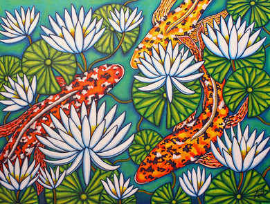 Aquatic Jewels, 60 x 80 cm