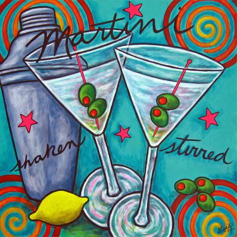 Retro Martini, 40 x 50 cm, SOLD