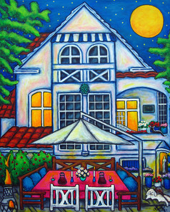 The Little Festive House, 40 x 50 cm, SOLD