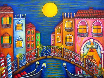 Moonlit Venice, 60 x 80 cm, Private Collection