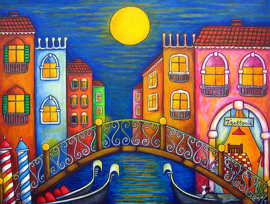 Moonlit Venice, 60 x 80 cm, SOLD