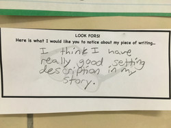 Look-Fors help students reflect.