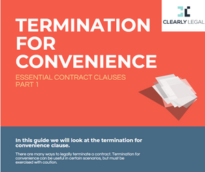 Termination for convenience, a free guide