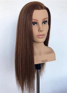 AMELIE Mannequin Head | 24in & 240g (Brown eyes)