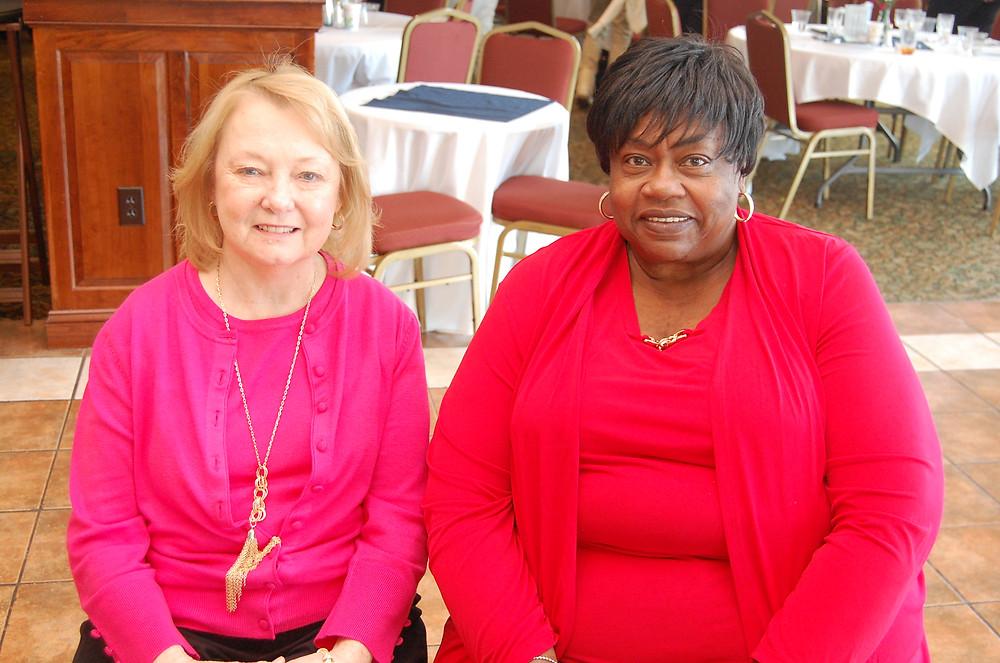 Joann Kirwan (left) pictured with excutive director Bernice Edwards