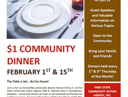February Community Dinners at First State