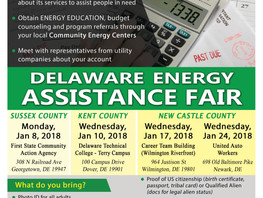 Delaware Energy Assistance Fairs this January