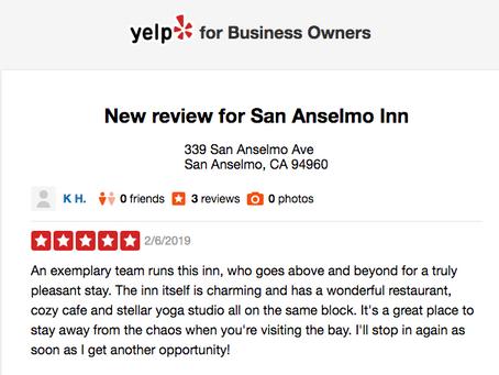 New review for San Anselmo Inn