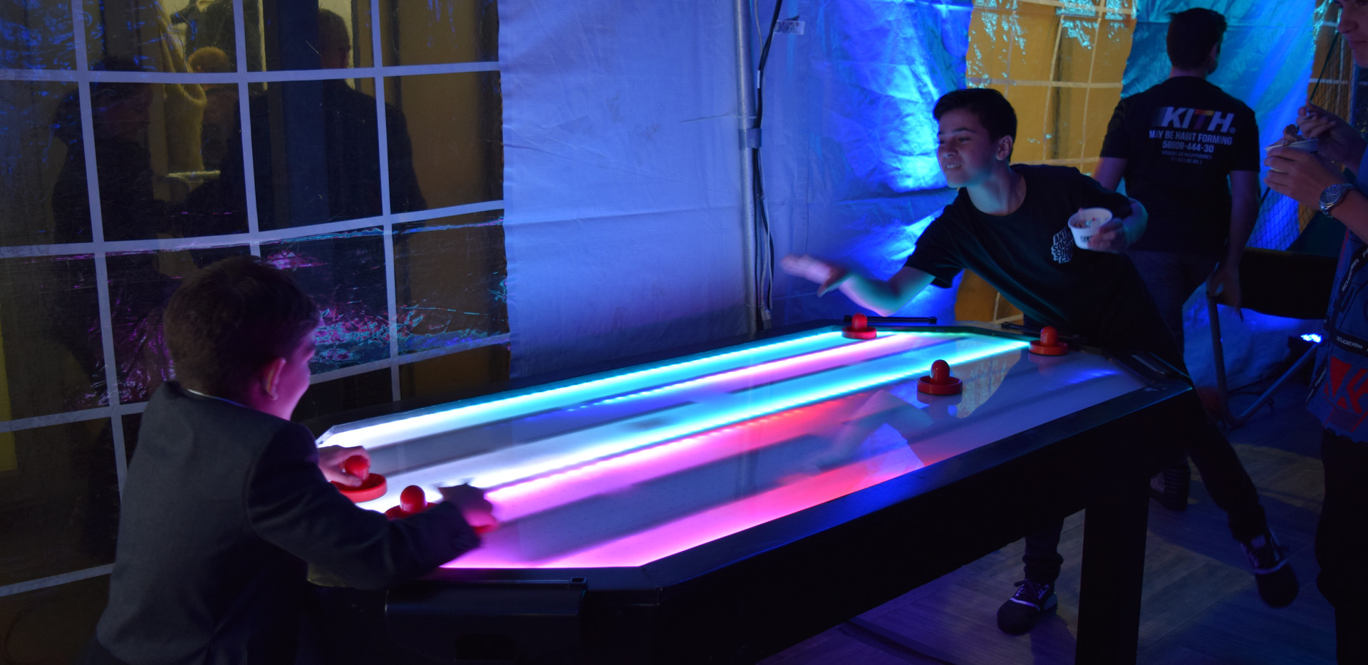Glow in the Dark Air Hockey