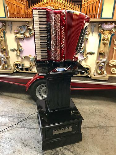 Decap Organ pedestal accordion for sale Marzioli Draaiorgel te koop fairground organ mechanical music