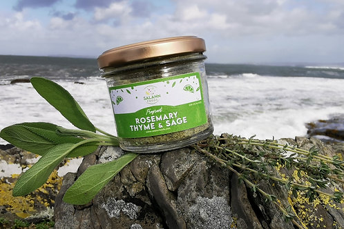 Thyme & Sage infused Sea Salt Seasoning (Jar)