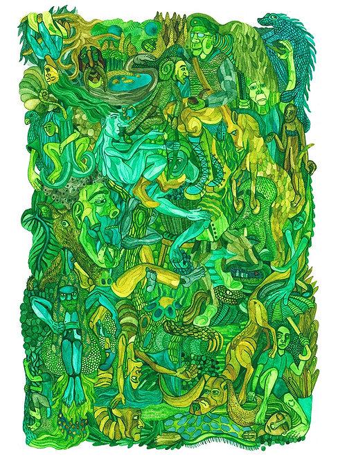 """""""September Green"""" Artist Print"""