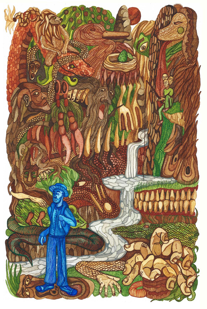 Exploring the Monster Forest Watercolour