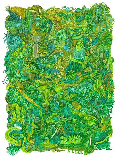 """Island Green"" Artist Print"