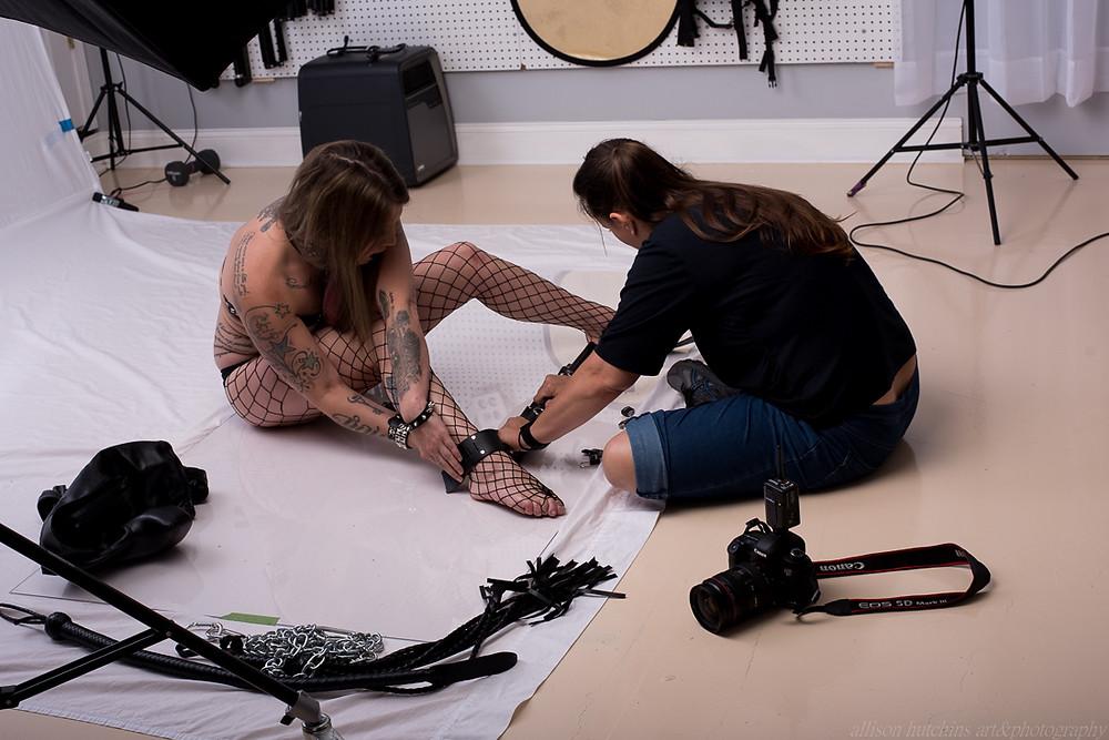bondage boudoir photo shoot
